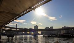 Tokyo Bay Offshore Loop (sapphire_rouge) Tags: tokyo seaside rainbowbridge ゆりかもめ reflection loop レインボーブリッジ