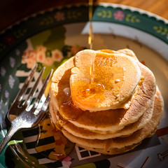 Golden (Syrup) Hour 013/365 (Watermarq Design) Tags: food foodporn comfortfood breakfast pancakes homemade glutenfree dairyfree goldenhour 365project