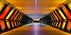 Stripes (Sean Batten) Tags: london england uk eastlondon canarywharf festivaloflight orange yellow footbridge tunnel nikon df 58mm city urban lumierelondon winterlights