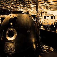Love Missile F1-11 (sjpowermac) Tags: timpeake lovemissilef111 soyuz goyle class31 31108 sputnik spacecraft space askance 4october1957 museum york esa locomotive principiamission exploration spaceman tma19m