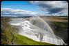 Somewhere, over the rainbow (franz75) Tags: nikon d80 islanda iceland goldencircle circolodoro golden circle midatlantic ridge dorsalemedioatlantica midatlanticridge cascata waterfall arcobaleno rainbow gullfoss