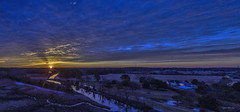 Winter Sunrise Over Lewes (stevebfotos) Tags: dji drone sunrise ocean lewes topaz