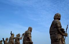 Sulla terrazza della Basilica di San Pietro (_Sarocchia_) Tags: roma rome basilica sanpietro monument art architecture sky cielo colours nikon photography geometry travel italy