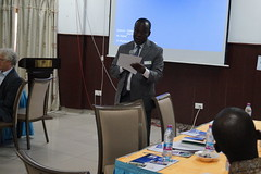 Prof  Quansah of KNUST presenting at the ELD Kick-off workshop for the project Economics of Land Degradation in Ghana