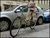 Dresden (abudulla.saheem) Tags: pillionrider sozius bicycle fahrrad teddy bear bär sidewalk pavement bürgersteig dresden saxony sachsen germany deutschland panasonic lumix dmctz101 abudullasaheem
