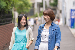 Young female friends in Harajuku