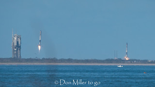 SpaceX Falcon Heavy Inaguaral Launch - Booster Return Landing