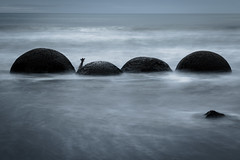 Moeraki Boulders (*Hairbear) Tags: moerakiboulders longexposure surf newzealand slow holiday