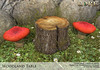 {LORE} Woodland Table (LalaLamour) Tags: lore {lore} sl secondlife whimsical landscaping fantasy medieval homegarden forest
