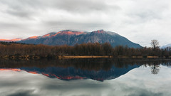 Nobody Knows For Sure... (John Westrock) Tags: nature landscape sunset cloudy reflection mtsi boratlake snoqualmie washingtonstate pacificnorthwest canoneos5dmarkiii sigma35mmf14dghsmart