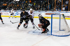 "Kansas City Mavericks vs. Indy Fuel, February 16, 2018, Silverstein Eye Centers Arena, Independence, Missouri.  Photo: © John Howe / Howe Creative Photography, all rights reserved 2018. • <a style=""font-size:0.8em;"" href=""http://www.flickr.com/photos/134016632@N02/26516368138/"" target=""_blank"">View on Flickr</a>"