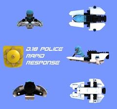 Rapid Response Speeder Views (David Roberts 01341) Tags: lego ldd speederbike police minifigure space scifi bluerender