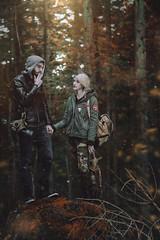 Apocalypse Love (Megan Glc Photographe) Tags: apocalypse love couple forest woods radiation trees autumn gasmask gas girl boy