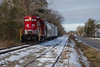 Snowbound (ajketh) Tags: rjcs rj corman carolina lines freight train shortline railroad emd gp18 951 cala southern mullins sc south local snow shade cold freezing
