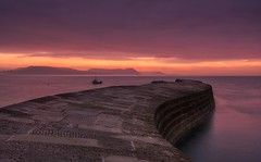 Dawn Return (Captain Nikon) Tags: lymeregis harbour lymeregisharbour lymebay dorset southwest coastal thecoast britishseaside jurassiccoast england greatbritain uk dawn thecobb seadefence seawall peaceful atmospheric moody longexposure theenglishchannel