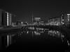 Heart of Berlin (Thomas Heuck) Tags: berlin hauptstadt schwarzweis architektur architecture gebäude buildings spree fluss river fernsehturm olympus ep5 reflections reflexionen stadt city nacht night