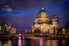 Berliner Dom at blue hour (Germany) (bachmann_chr) Tags: berlin berliner dom deutschland landschaft landscape germany sightseeing nikon nikkor d750 vollformat full frame blaue stunde blue hour architecture architektur