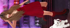 Lady in Red. (delilahhannu) Tags: clefdepeau dahlia dirtyprincess {monso} kustom9 jian senseevent treschic shinyshabby