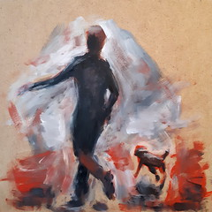 Skip [20180114] 20180114_163357 (rodneyvdb) Tags: abstracted animal art boy contemporary chien dog drawing expression expressionism impressionism figure figurative fineart friends friendship illustration ink modern painting play rough sketch skip street