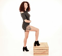 The Girl with the Wolf tattoo (pstone646) Tags: youngwoman younglady beauty portrait pretty people tattoo legs studio
