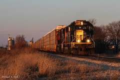IC 1027 @ Levertt, IL (Michael Polk) Tags: illinois central emd sd70 1027 leverett champaign yard mainline freight train canadian national m371