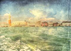 * Winter in Venice *  /  own texture / (argia world 1) Tags: venezia venice mare sea acqua water edifici buildings cielo sky nuvole clouds texture architettura architectures