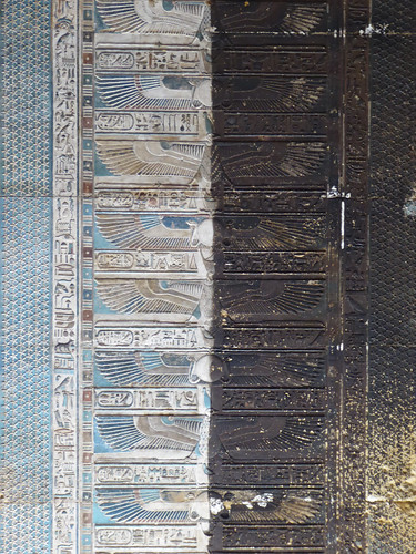 Half-Restored Ceiling, Dendera Temple