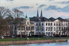 Peek a boo ... (Hans van Bockel) Tags: 70300mm d7200 ijssel nikon rivier spoorbrug tamron deventer overijssel nederland nl onderdelinden huizen statig bergkerk torens kerktorens explore