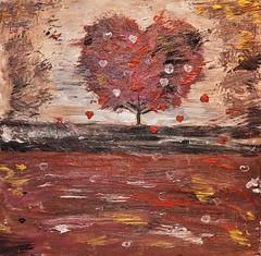 ~~ L'Arbre Amitié ~~ (Joélisa) Tags: peinture coeur arbre acrylique art février2018