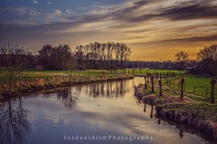 Sunset Reflections (Stathis Iordanidis) Tags: sundown river lake riverside farm farmland countryside nature