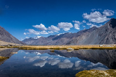 Nubra Valley (Navaneeth Kishor) Tags: nubra valley nubravalley leh ladakh hunder diskit jk lehdiaries india himalaya himalayam himalayan mountain mountains sky clouds cloud bluesky reflection lake water landscape travel