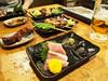 Sashimi & Yakitori (INZM.) Tags: food yakitori toriyoshi japanfood japan japanese japaneseyokitori 鳥佳 炭焼鳥佳 sumiyaki やきとり 焼鳥 さしみ 刺身 レバー lever liver skewer