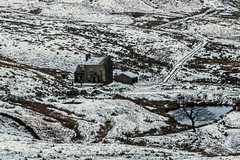 Pennine Snow - Derelict House (Craig Hannah) Tags: snow pennine craighannah canon photography hills westriding yorkshire england uk january 2018 saddleworth derelict derelectbuilding abandoned decay house barn tree weather winter