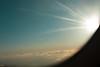 Natural Fireworks (Jorge Eduardo Albarracin) Tags: sky ciel himmel volken nubes nuages clouds soleil sun sonne sol blue blau azul bleu airplane plane flugzeug avion ventana window fenster fenêtre ray rayons rayo firework feuerwerk