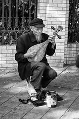 Pipa player on a street of Nanjing, China #3 (Streets.and.Portraits) Tags: street nanjing china player pipa monochrome nanjingshi jiangsusheng cn blackwhite bw man nikon d3200 photography portrait travel
