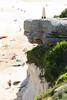 Overlooking the Beach (philipbouchard) Tags: beach sand bluff sandstone sunshine cliff ocean curlcurl north australia sydney newsouthwales nsw northernbeaches pacificocean shore sunbathing beachside recreation people suburbs cone obelisk monument rock