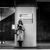 Fujinon EBC 50mm ƒ/1.4 - DSCF4224 (::Lens a Lot::) Tags: fujinon ebc 50mm ƒ14 6 blades m42 f14 dark darkness underground noise night light street streetphotography bw black white monochrome vintage manual prime fixed length japanese classic lens pentax asahi ruelle personnes route bâtiment metro subway gate station lignes train plafond