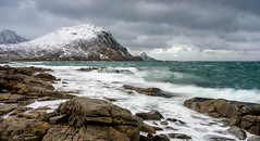 Austervågen - Lofoten (Nepomuk22) Tags: lofoten norwegen schnee steinklippe winter nordland no austervågen