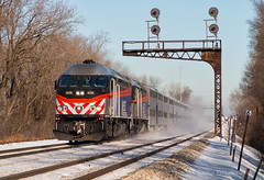 Expressy (Wheelnrail) Tags: train trains emd mpi mp36 locomotive metra railroad rail road rails loco robbins illinois chicago chicagland rock island snow cold express passenger