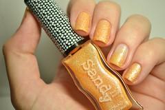 Desafio Arco-íris: Laranja / Pastel Orange - Konad. (Raíssa S. (:) Tags: esmalte unhas nails naillacquer nailpolish orange laranja sand liquidsand konad nailpainting desafioarcoíris nikon