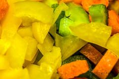 Fresh (4thmedium) Tags: yellow yellowpepper pepper celery green orange orangepepper