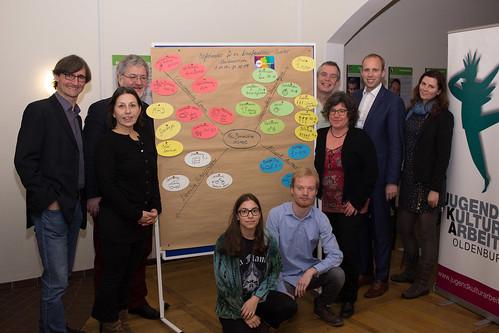Pressekonferenz mit Vorstellung von neuen, aus Bundesmitteln geförderten Projekten bei Jugendkulturarbeit e.V. in Donnerschwee.