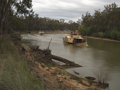 Paddle steamers on the River Murray, Echuca, Victoria (Diepflingerbahn) Tags: rivermurray psadelaide paddlesteamer echuca victoria steam boat riverboat