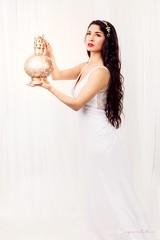 """The White Winter Castle"" ❄️ (sandys eyecatcher) Tags: flash sanjose studio mysterious canon fashion portrait glamour boudoir concept gown dress wedding hair woman brunette snowwhite princess sandyseyecatcher fantasy fairytale white"