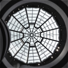 Looking up : inside the Guggenheim museum NYC (CTfoto2013) Tags: hipstamatic loftus blackeysbw triplecrown abstract architecture art blackandwhite bw design monochromatic square nyc newyork iconic iphone iphonepicture iphonephoto noiretblanc blancoynegro plafon monochrome rotonde geometrie