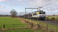 Bathmen Captrain 1621 met Gefco autotrein (Rob Dammers) Tags: bathmen overijssel nederland nl