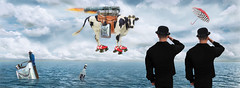 Transatlantic flight (fil_yevko) Tags: surrealism flight ocean