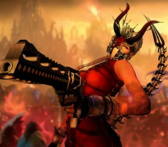 Lady of War (Nok' Tallulah) Tags: war post apocalyptic apocalypse woman girl lady portrait future futuristic digital art artist artwork photoshop secondlife sl style moment instant scorpio destruction unique creations gun animal reality virtual world life flames fire town blaze fatality destiny death hell inferno masoom cerberus xing eclipse fabia pulse cx ed