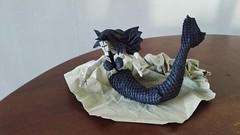 Origami Mermaid (Bart Davids) Tags: origami mermaid merman fantasy boxpleat