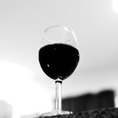 One Dark Glass (andymudrak) Tags: 365 365days 365photochallenge photography bw squareformat wine glass black one